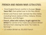 french and indian war 1754 1763