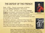 the defeat of the french