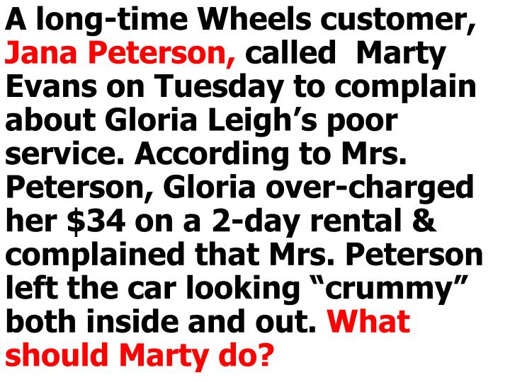A long-time Wheels customer,