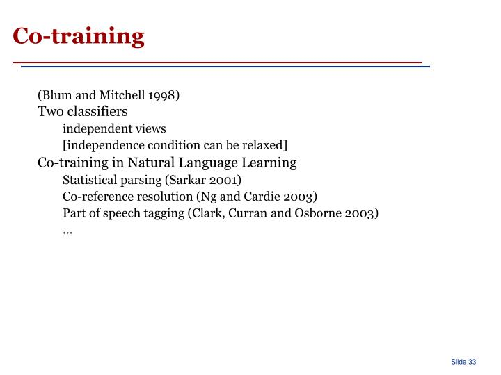 Co-training