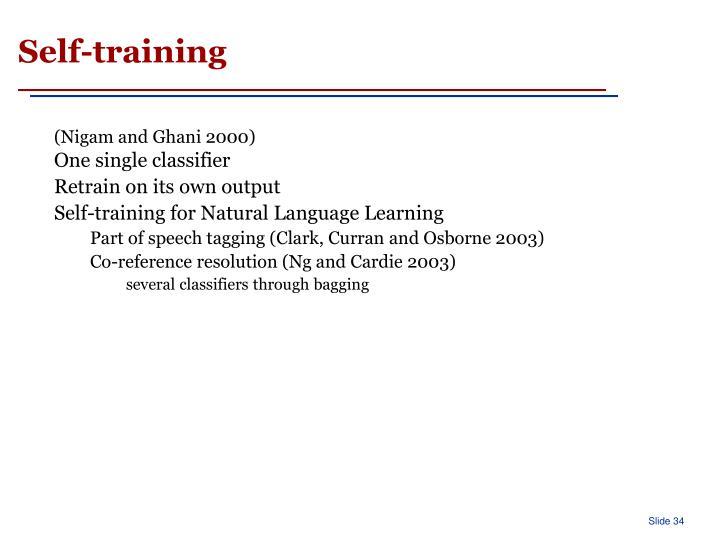 Self-training