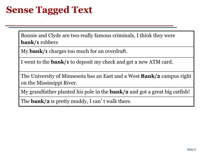 Sense Tagged Text