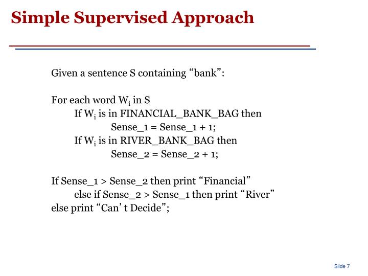 Simple Supervised Approach