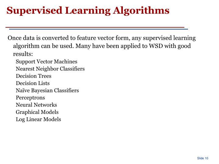 Supervised Learning Algorithms