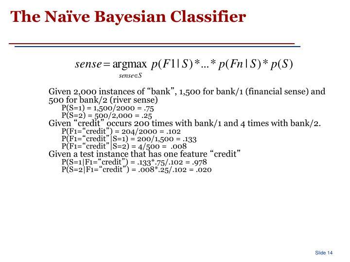 The Naïve Bayesian Classifier