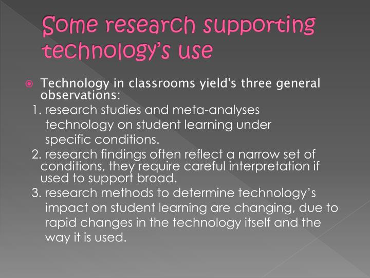Some research supporting technology's use