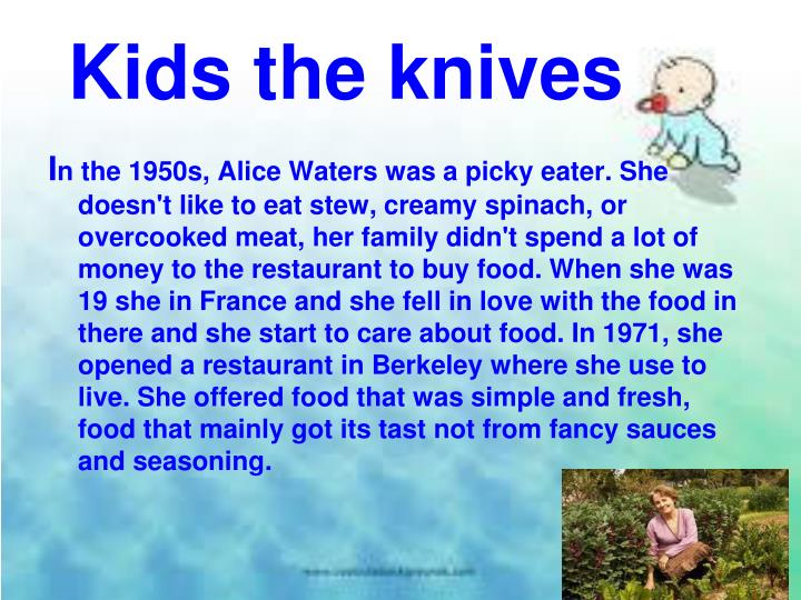 Kids the knives