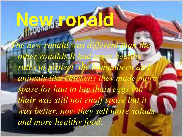 New ronald