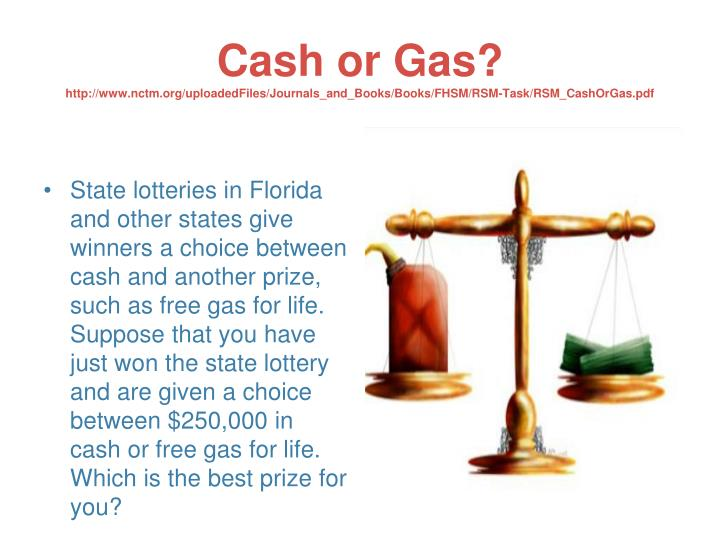 Cash or Gas?