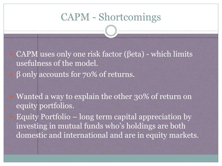 Capm shortcomings