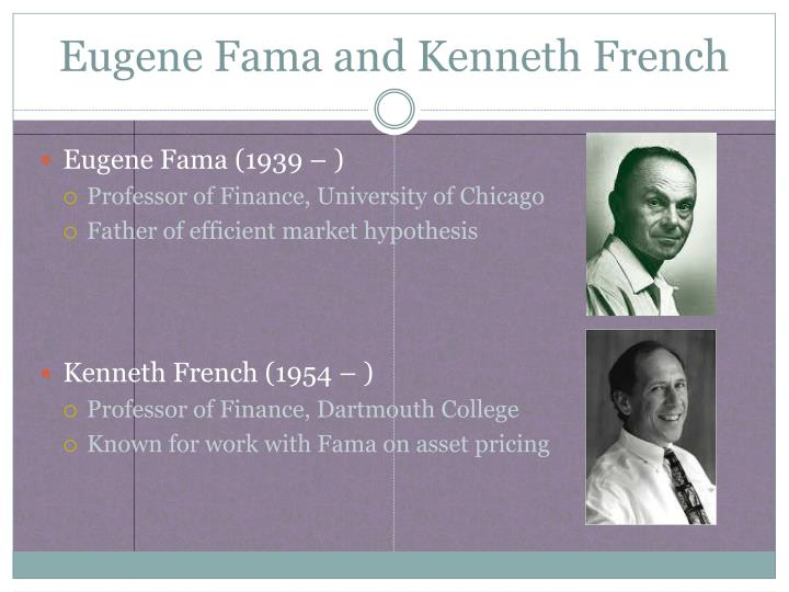 Eugene fama and kenneth french