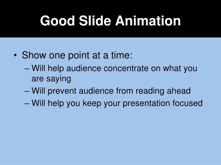 Good Slide Animation