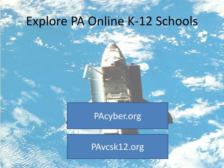 Explore PA Online K-12 Schools