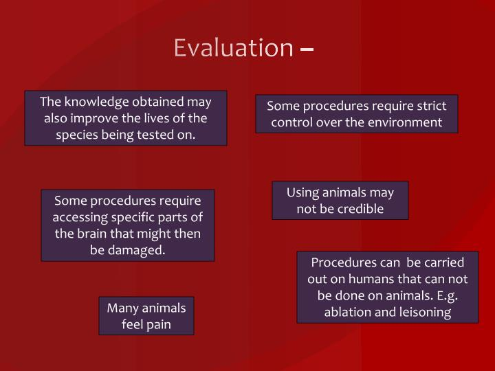 Evaluation –