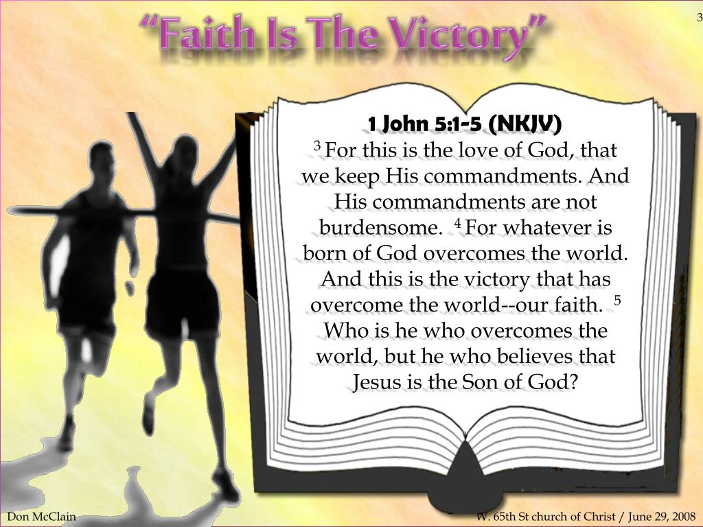 """PPT - """"Faith Is The Victory"""" PowerPoint Presentation - ID"""