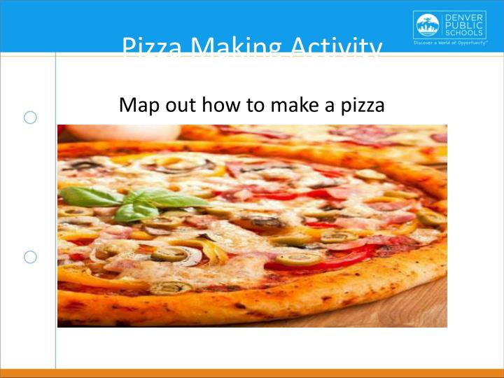Pizza Making Activity