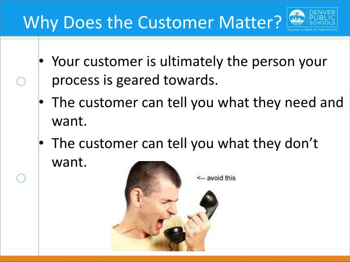 Why Does the Customer Matter?