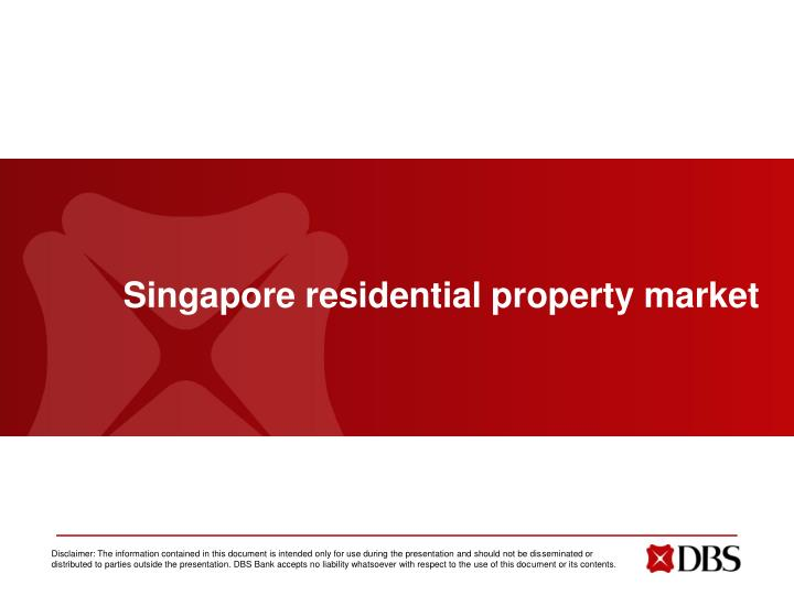 Singapore residential property market