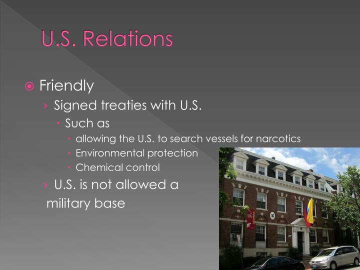 U.S. Relations