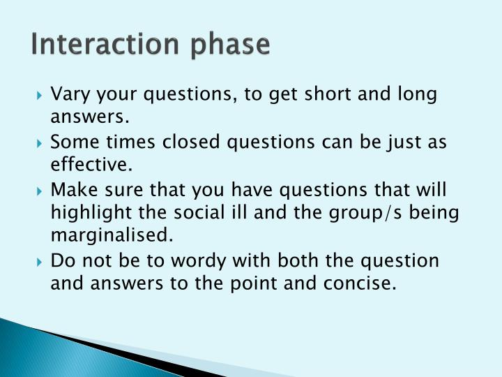 Interaction phase
