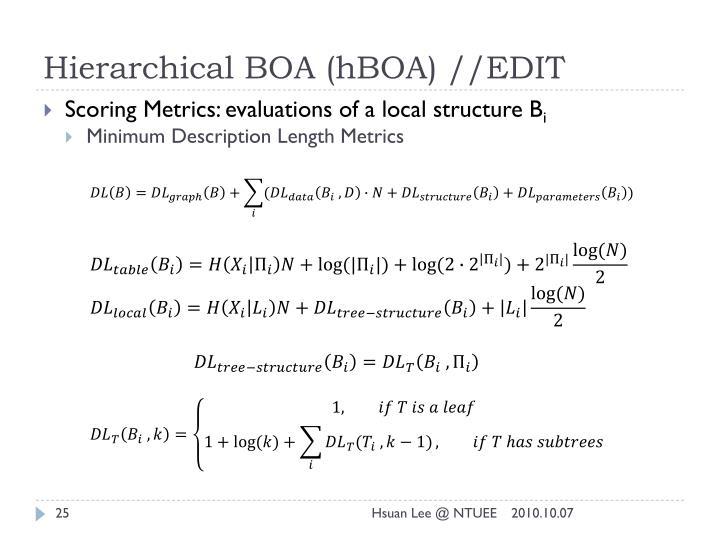 Hierarchical BOA (hBOA