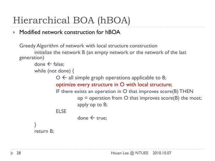 Hierarchical BOA (hBOA)