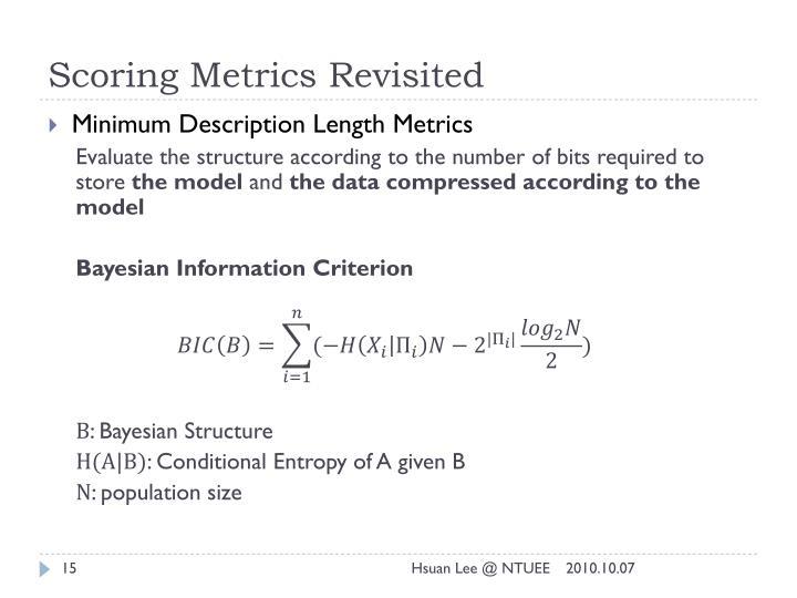 Scoring Metrics Revisited