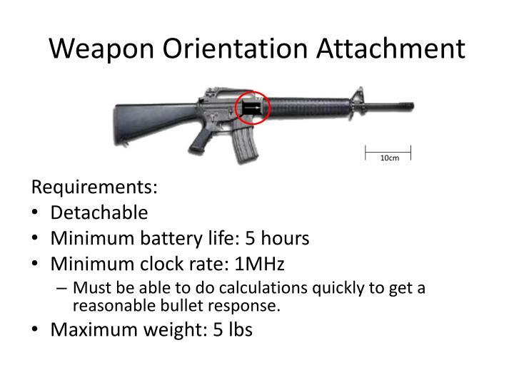 Weapon Orientation