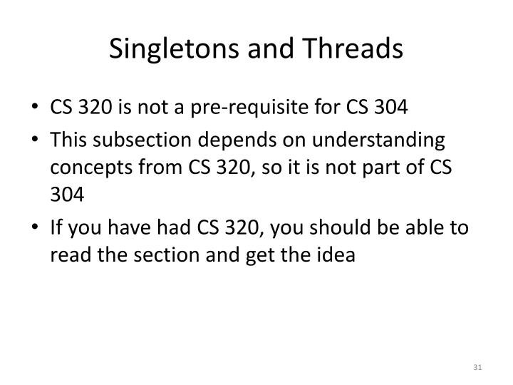 Singletons and Threads