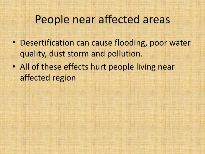People near affected areas