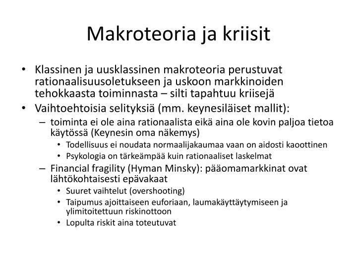 Makroteoria ja kriisit