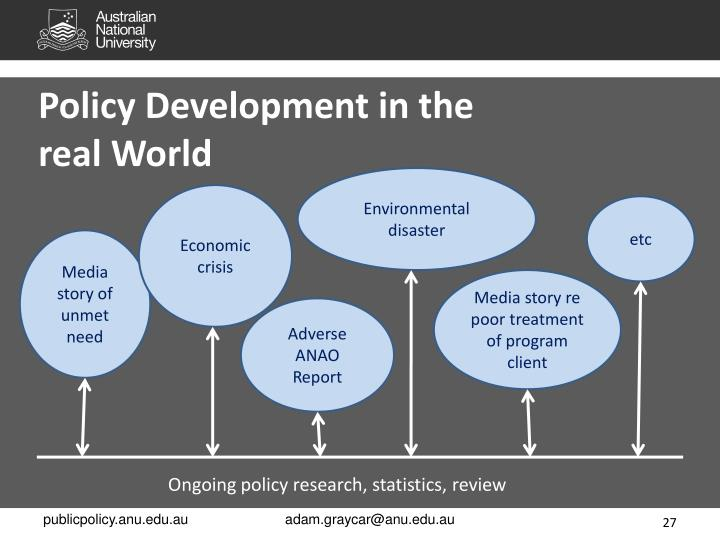 Policy Development in the