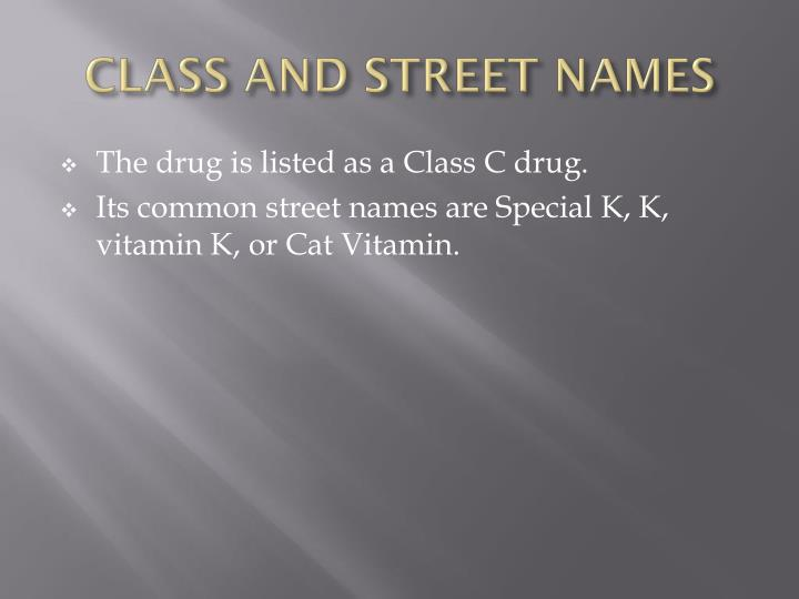 Class and street names