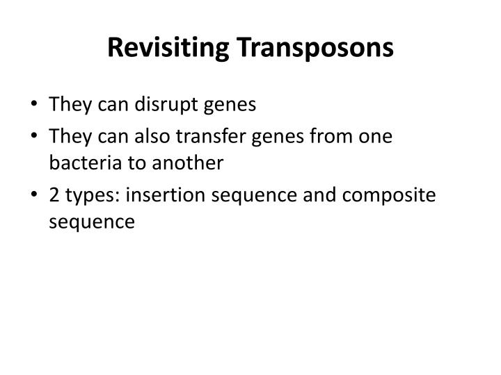 Revisiting Transposons