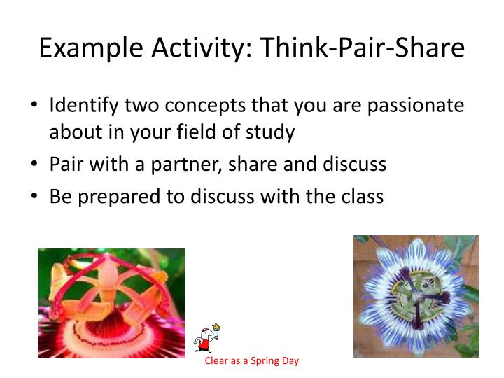 Example Activity: Think-Pair-Share