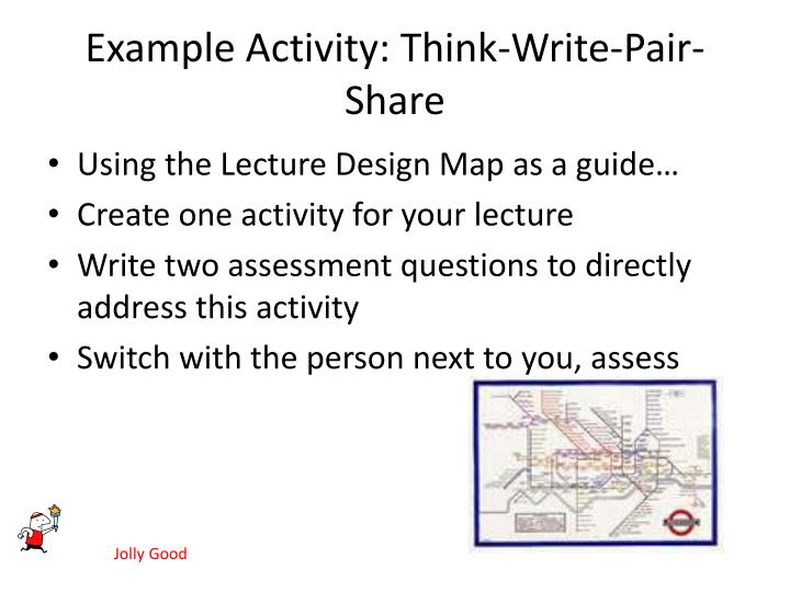 Example Activity: Think-Write-Pair-Share