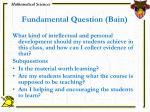 fundamental question bain