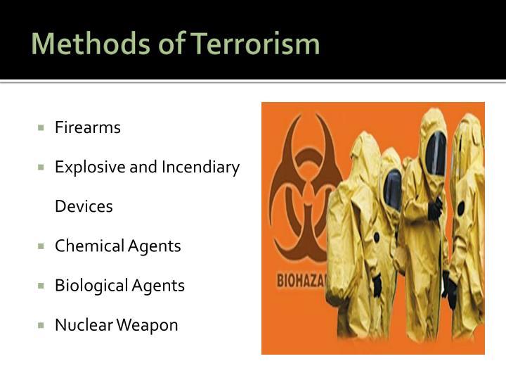 Methods of Terrorism