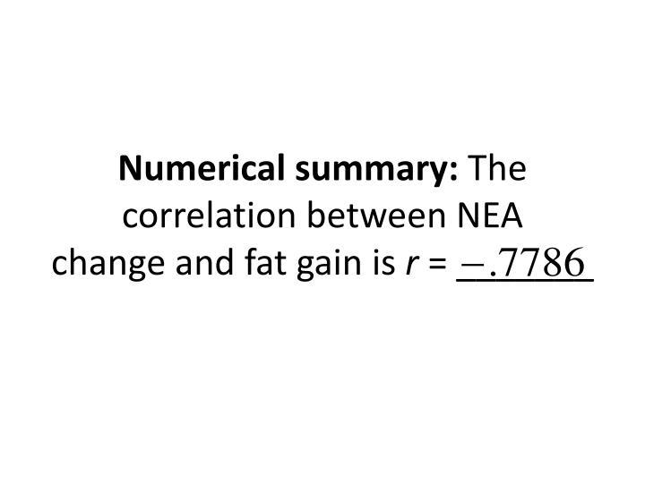 Numerical summary: