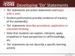 developing do statements