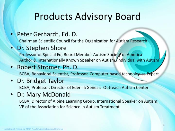 Products Advisory Board