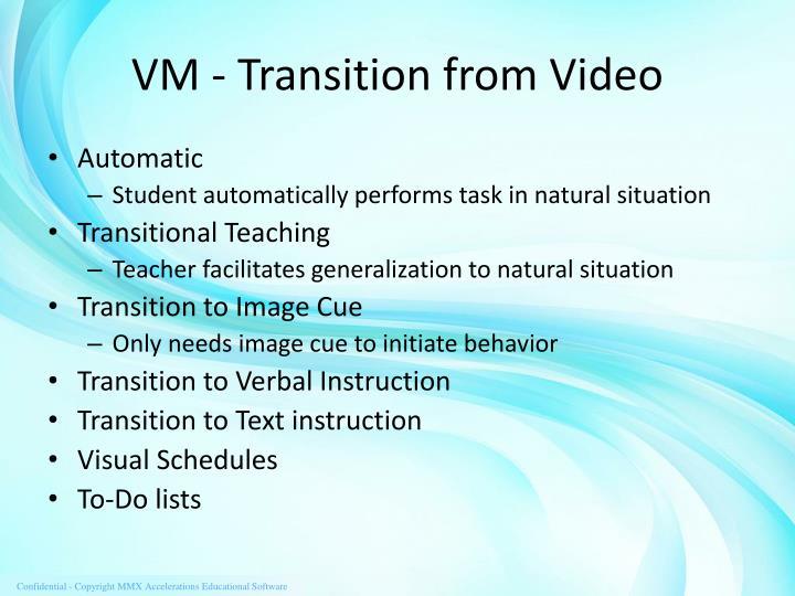 VM - Transition from Video