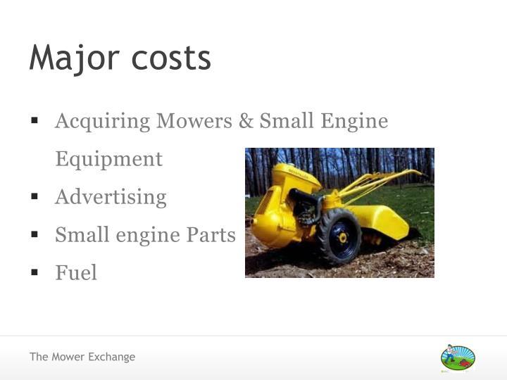 Acquiring Mowers & Small Engine Equipment