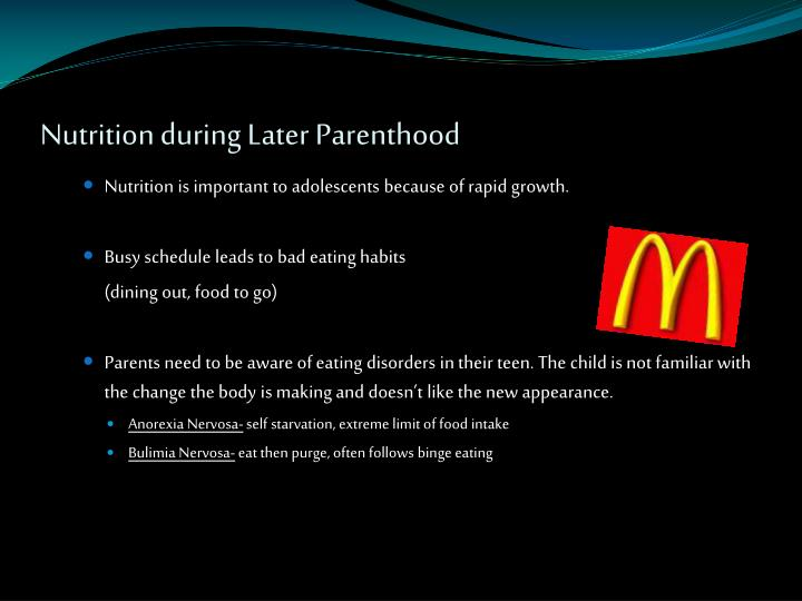 Nutrition during Later Parenthood