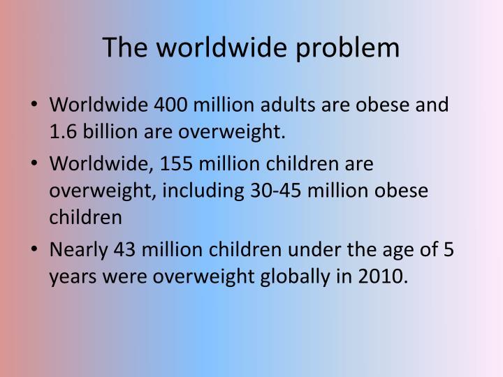 The worldwide problem