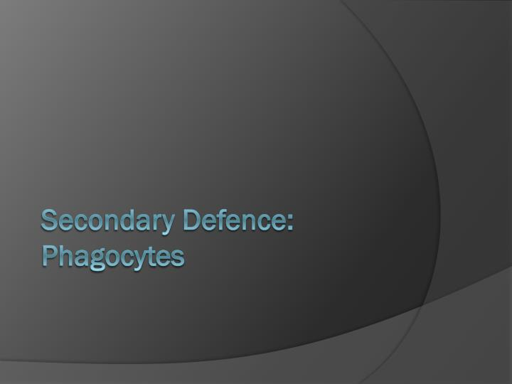 Secondary Defence: