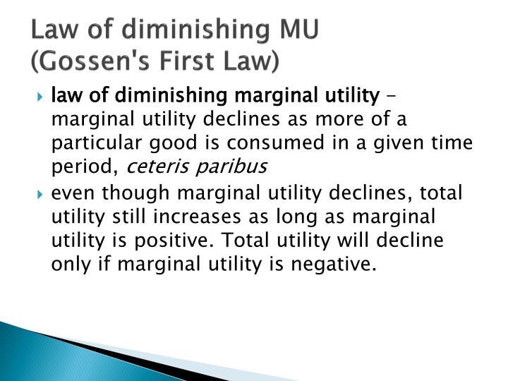 Law of diminishing