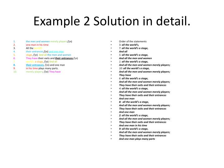 Example 2 Solution in detail.