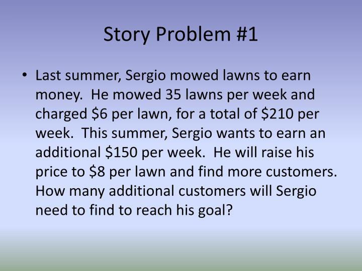 Story Problem #1