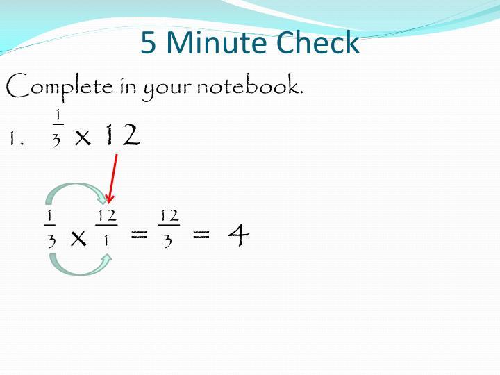 5 minute check2